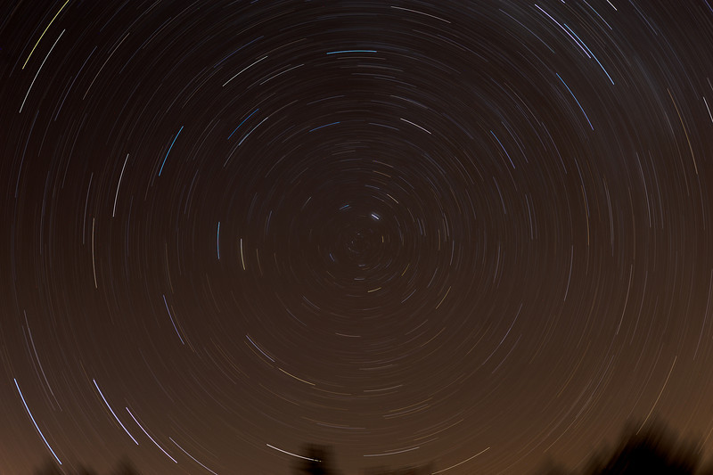 30 Minute exposure, Nikon D3 f/3.2  24MM  ISO 400<br /> I did something different with the Astrotrac.<br /> I turned the arm on the Astrotrac over to Southern Hemisphere and took a 30 minute exposure on Polaris.<br /> Astrotrac was then tracking the opposite direction, and gave me a 60 minute equivalent star trail image.<br /> <br /> Malcolm Park