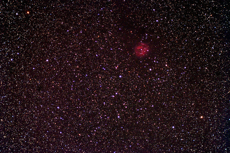 IC5146 Cocoon nebula.  Pelican Nebula taken from Lake of Bays using 80mm ED triplet from William optics<br /> Canon 350D modified.  8x5min exposures at 800 ISO.  by Dennis Gasparotto