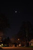 Crescent moon and Venus above Jupiter from Toronto Ont. March 26, 2012 HDR from 3 exposures. R.McW.