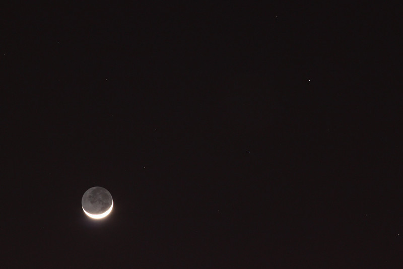 3 day old Crescent Moon.<br /> John Merchant