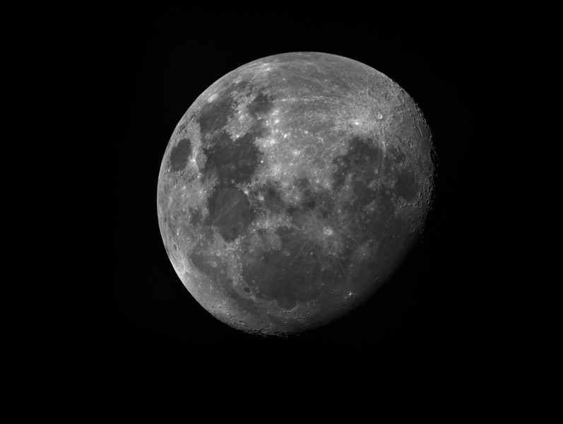 The moon last night ...in Ha, 0.04 sec. ML8300, TEC140<br /> Lynn Hilborn...
