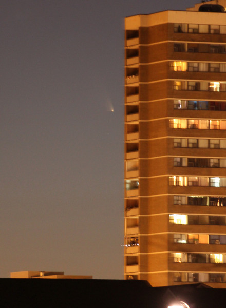 Comet Panstarrs from in the city of Toronto on Pi Day, 2013.<br /> John Merchant