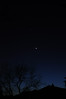 Grouping of Moon, Venus, and Jupiter on the evening of March 25, 2012.  Photo taken from Whitby, Ontario