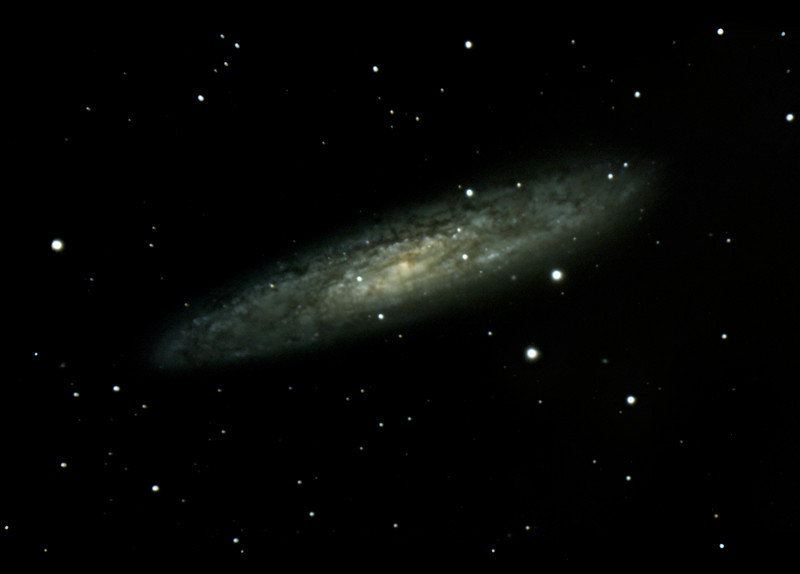 this was my first time imaging at Oak Heights. This is a stack of 23x600sec exposures of NGC 253 taken friday and saturday nights through my 18 year old C8 on a EQ6 pro guide with the help of PHD. The subs were acquired stacked and processed in Nebulosity with some final tweaks in PS. These were by far the best skies I have had all year.