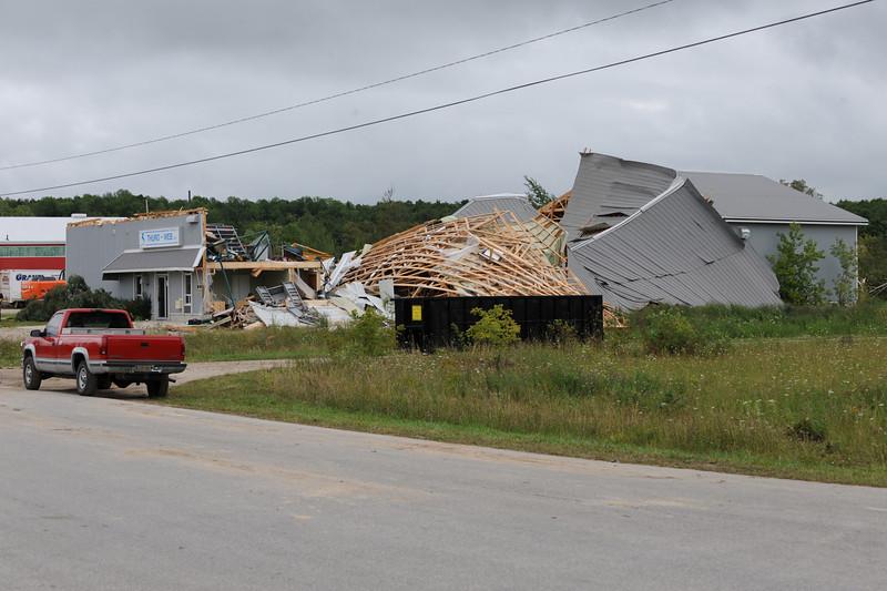Tornado Damage in Durham near Starfest, August 20 2009