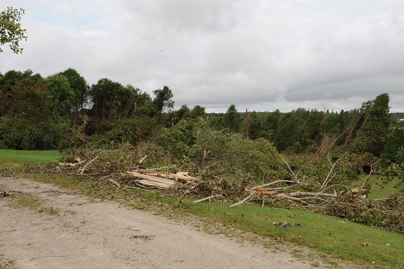 Tornado Damage in Durham near Starfest, August 20 2009