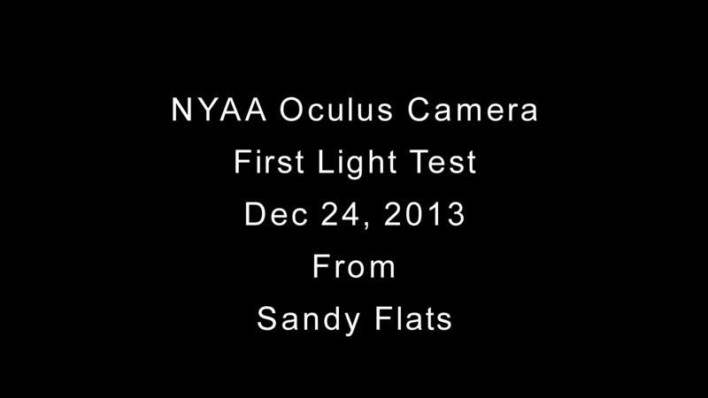 NYAA Oculus All-Sky Camera First Light HD video