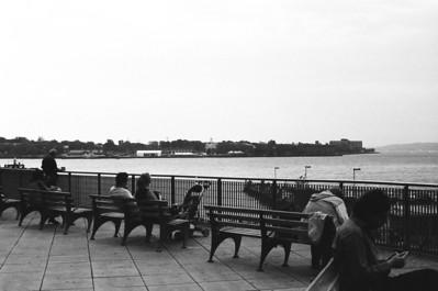 Staten Island Ferry Terminal | Whitehall Street - Manhattan Lens: Nikkor 50mm f/1.4 Film: Kodak TRI-X iso400
