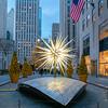 Swarovski Star and the Rockefeller Center Christmas Tree, early morning
