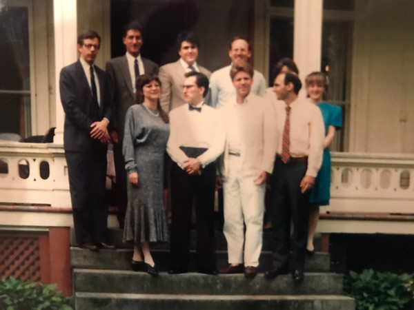 1990 - TB50 members at Alex wedding