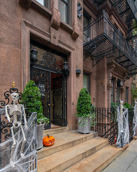 Halloween decorations on the Upper East Side.