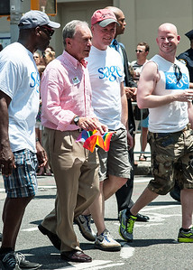 New York Mayor Mike Bloomberg in the city's 2013 Gay Pride parade.