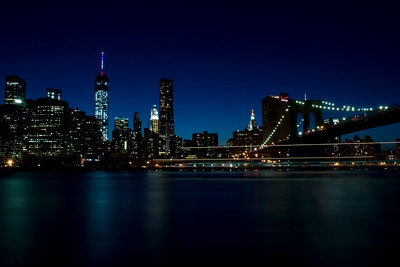 Ship Passing in the Night - From Brooklyn Bridge Park