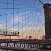 Sun beginning to set along the Brooklyn Bridge2
