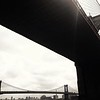 Brooklyn and Manhattan Bridges - View From Below