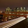 In a Rush on the Brooklyn Bridge - Nighttime