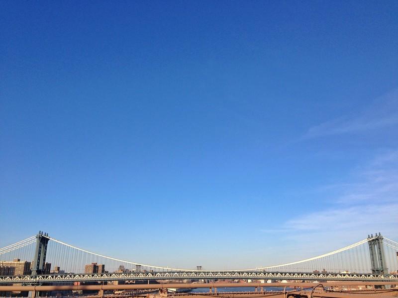 Williamsburg Bridge view taken from the Brooklyn Bridge