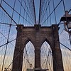 Sun beginning to set along the Brooklyn Bridge3
