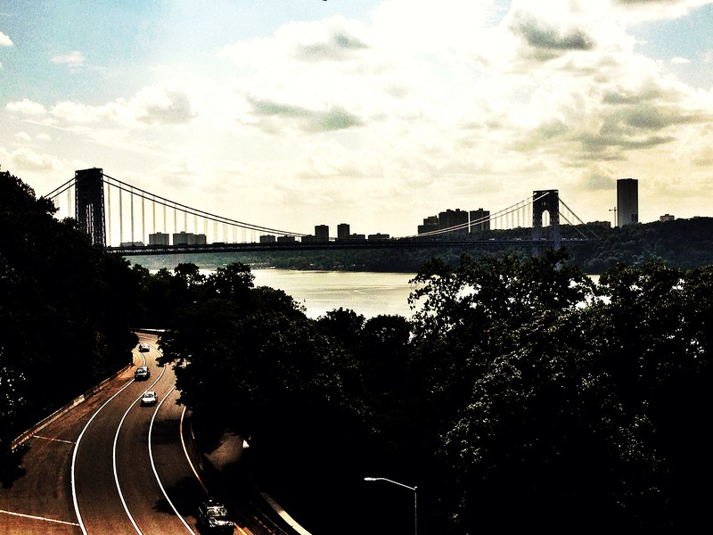 View of George Washington Bridge from Fort Tryon Park