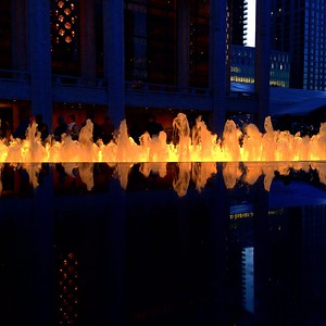 The Lincoln Center Fountain is on Fire