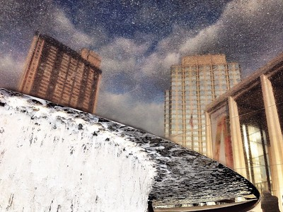 Reflection Inversion at the Lincoln Center Fountain