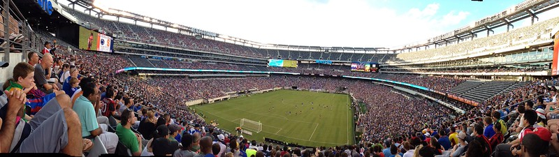 Bird's Eye View - Soccer at Met Life Stadium