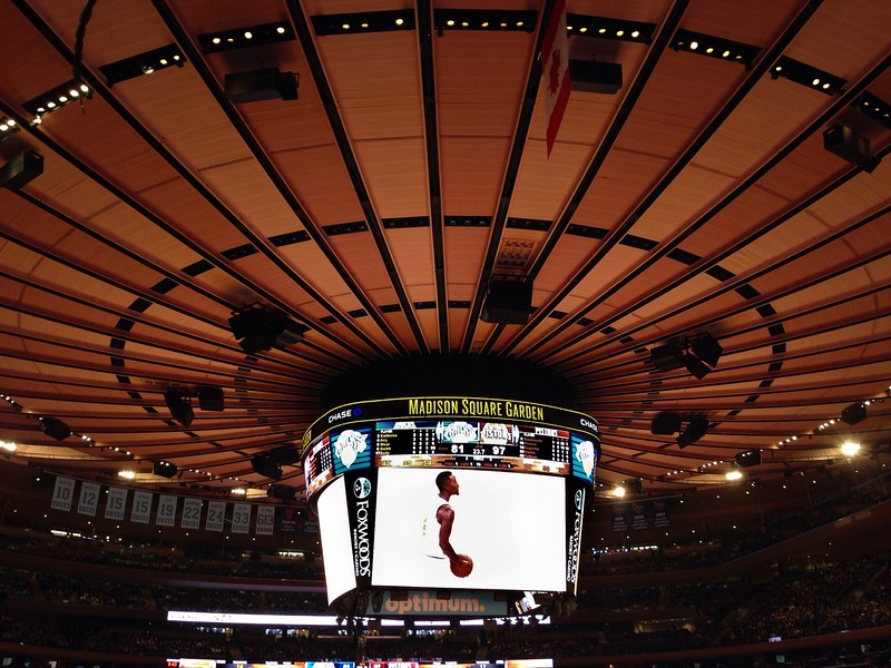 Knicks game - JR Smith on the Big Screen