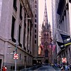 Wall Street and Trinity Church in New York City