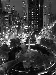 Columbus Circle _ bw