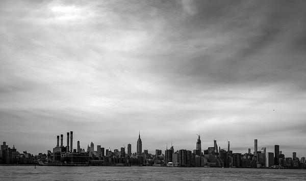East River Skyline _ bw