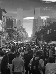 Street Fair _ bw