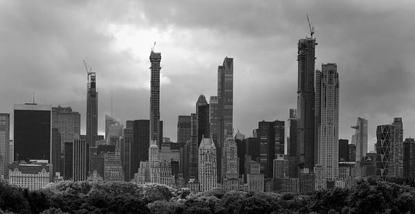 Central Park South Skyline _ bw