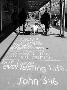 Sidewalk Sermon _ bw