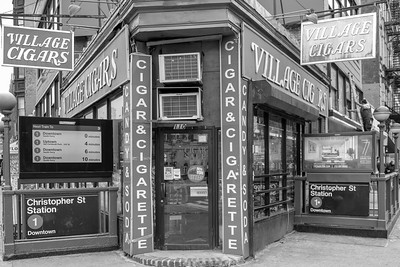 7th Avenue and Christopher Street _ bw