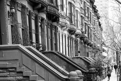 Brownstone Row _ bw