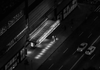 Two Men Walking, West 42nd Street