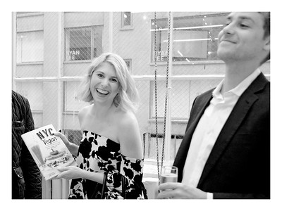 "NEW YORK, NEW YORK - MAY 16, 2017:  Creators of ""Vegan Mos,"" Michael Suchman and Ethan Cement Present their Official Book Launch of ""NYC Vegan"" at the Alexander Gray Associates Gallery at 510 W 26th Street on May 16, 2017 in Manhattan, New York. (Photo Credit: Lukas Greyson /lukasmaverickgreyson.com)"