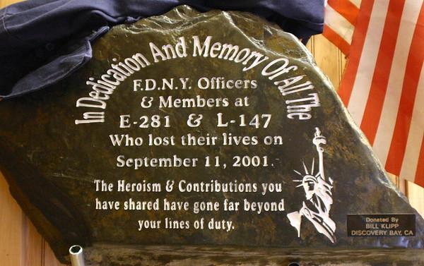 Plaque Dedication L147/E281  May 8 2004