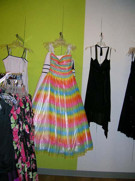 Casey found this assemblage of dresses in the Jr. Dept. interesting enough to warrant a photo.