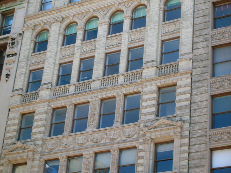 Casey must have admired the carving in the stone on this building.