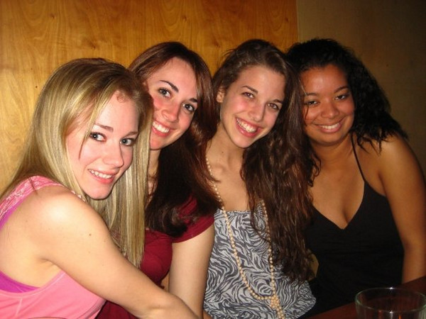 This picture was taken at a bar two blocks from Fordham called The Snug just after midnight on Casey's 21st birthday.