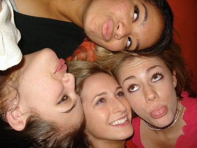 In Casey's Apt. Freshmen Yr. - Janine, Kelsey, Casey, and me in Casey's apartment freshmen year. For some reason, we all laid on the floor and talked and laughed and had a floor photoshoot haha