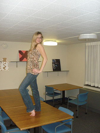 """Me Study Lounge Runway - We took turns taking pictures of each other on the """"runway."""""""