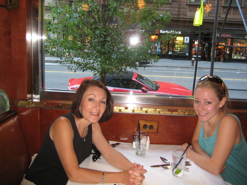 Lunch in NYC after moving Casey Casey into her apt.
