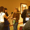 "Gabrielle Linzer: ""Casey & I being interviewed at the conference in SF""<br /> <br /> Craig: ""I remember them being interviewed by another college newspaper. When they asked, Casey was excited to volunteer."""