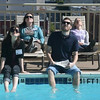 Craig: Gabrielle, Ashley, Rob, and Casey lounging by the pool. We took some pool shots to make the rest of The Observer staff jealous that we were in California.