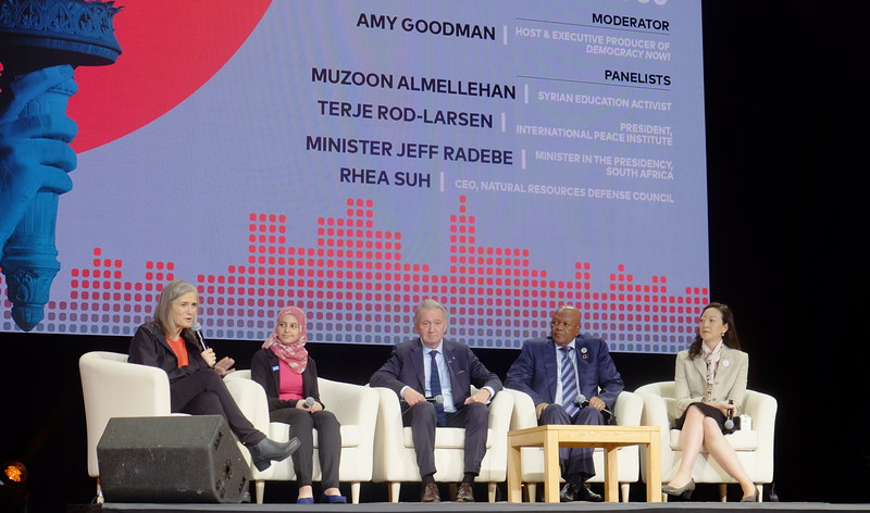 Panel at Global Citizen Forum, NYU