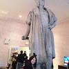"Tatzu Nishi's installation of Christopher Columbus in Columbus Circle called ""Discovering"" Columbus"
