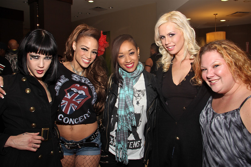 Asphyxia Noir, Barbie, Skin Diamond & Tara Lynn Foxx, Exxxotica After Party 11-9-12