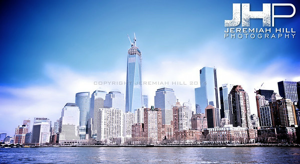 """NYC Skyline from Water #4"", NYC, 2013 Print NYC1-014,"
